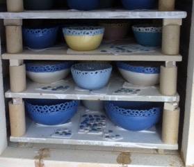 Brænding af porcelæn på Anholt Gartneri